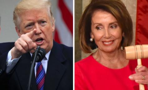 El presidente Donald Trump (izquierda) y portavoz de la Cámara Nancy Pelosi (derecha)