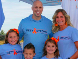 "Matt ""Dezy"" DiStefano and his wife, Jennifer DiStefano, pose for a photo with their children Gianna, Giovanni and Giuliana."