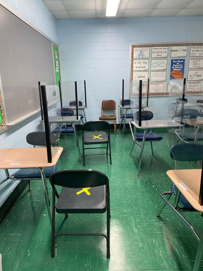 The classrooms of Huntington High School certainly look different than they did last fall (Credit: Talia Addeo)